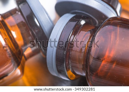 Photo medications vials and syringes - stock photo