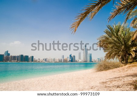 Photo metropolis on the gulf coast in Dubai