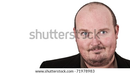 photo middle age man with expression on his face - stock photo