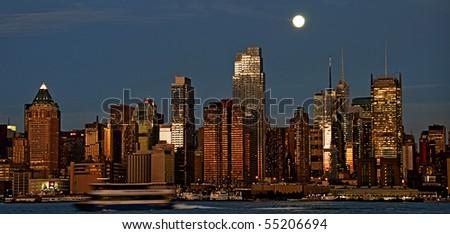 photo new york cityscape skyline, usa - stock photo