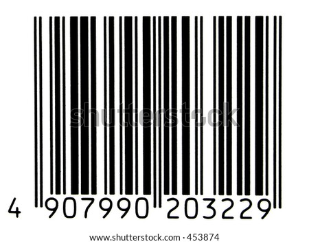 photo of a authentic bar code - stock photo