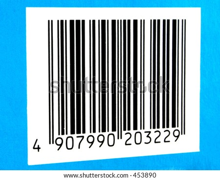 Photo of a authentic bar code #2 - stock photo