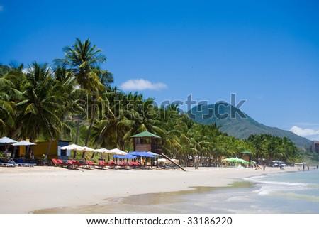 Photo of a beach, Venezuela, Margarita island - stock photo