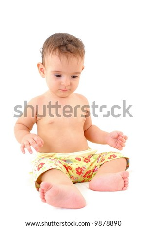 Photo of a Beautiful Baby on white background .