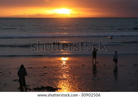 Photo of a beautiful sun set in bali beach