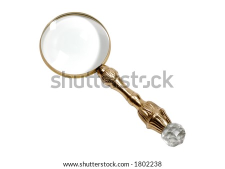 Photo of a Brass Antique Magnifying Glass
