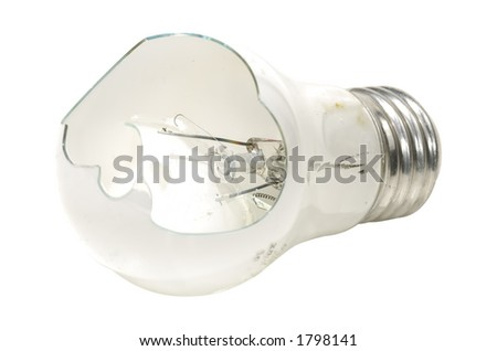 Photo of a Broken Light Bulb