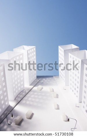 Photo of a city made of paper