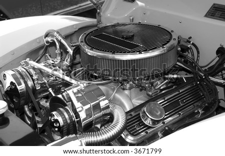 Photo of a Engine Block - Hotrod ENgine - Air Filter - stock photo