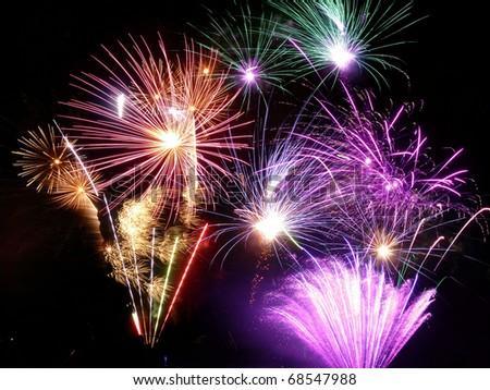 Photo of a firework display - stock photo