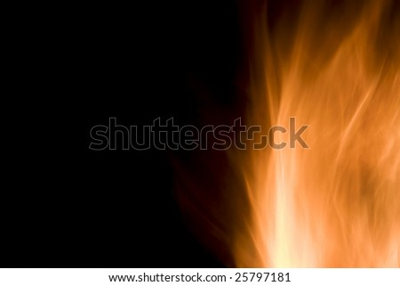 Photo of a Flame on Right - stock photo