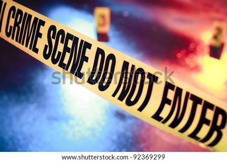 photo of a fresh crime scene - stock photo