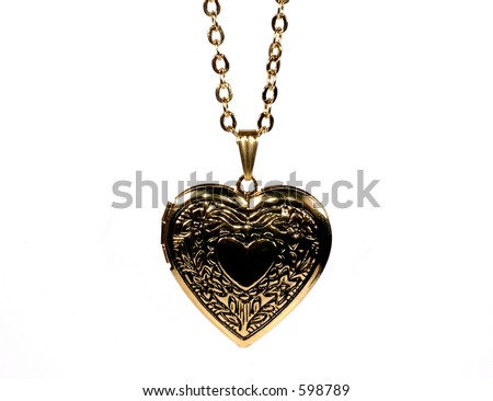 Photo of a Gold Heart Shaped Locket
