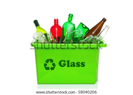 Recycle Glass Symbol Green Glass Recycling Bin
