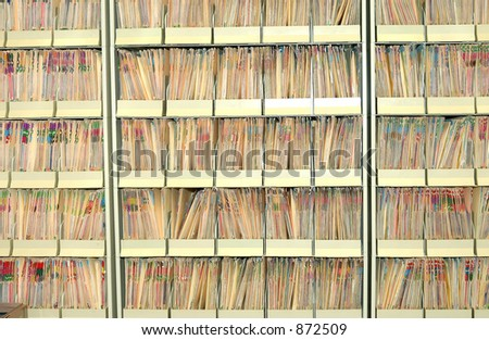 Photo of a Medical Files - stock photo