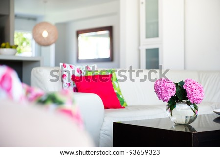 Photo of a modern interior design home - stock photo