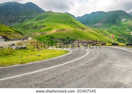 Photo of a mountain road - stock photo
