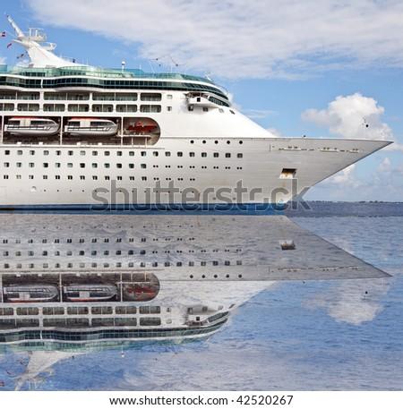 photo of a ocean sea cruise ship - stock photo