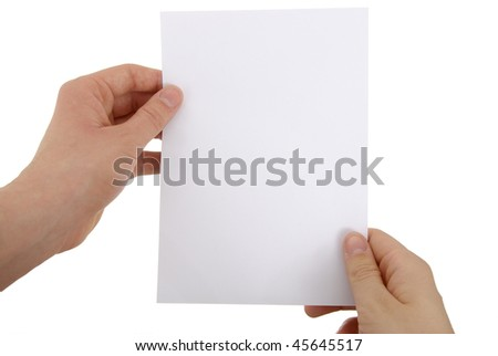 photo of a paper sheet - stock photo