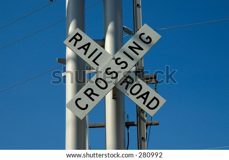 Photo of a Rail Road Crossing Sign
