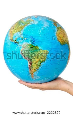 photo of a representation of the planet earth upon hands