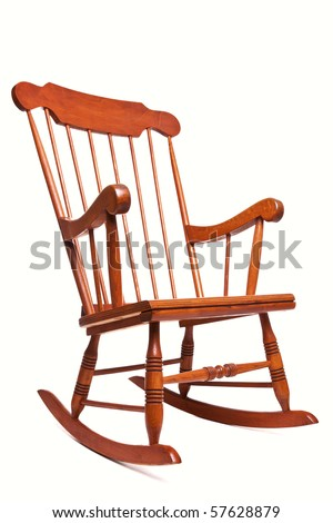 Photo of a Rocking chair isolated on a white background - stock photo