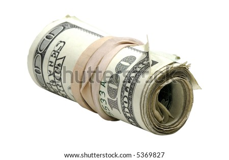 Photo of a Roll of Money - Money Related - stock photo