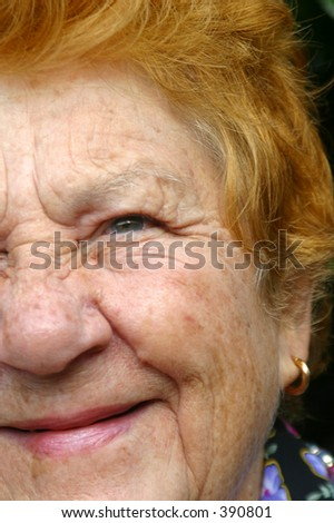 Photo of a senior womans face.