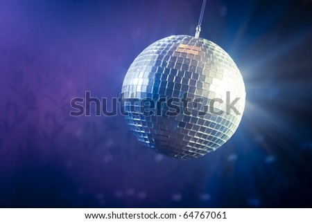 photo of a shinny disco ball - stock photo