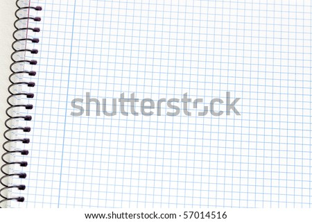 Photo of a spiral notebook closeup in blank