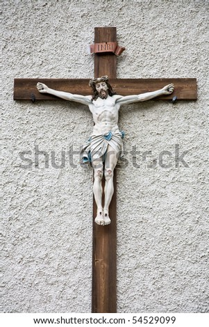 Photo of a statue of Jesus Christ - stock photo