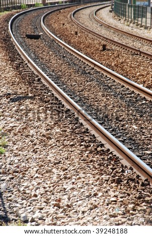 photo of a vintage railway train track