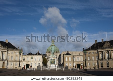 Photo of Amalienborg Palace, Copenhagen, Denmark - stock photo