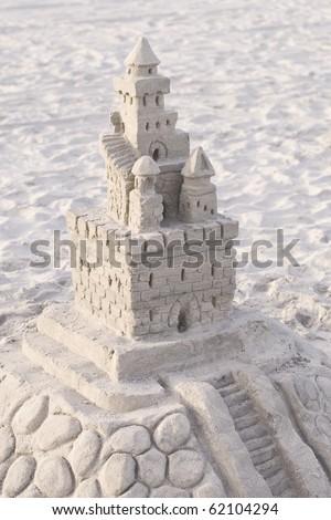 Photo of Amazing Sandcastle at the beach - stock photo