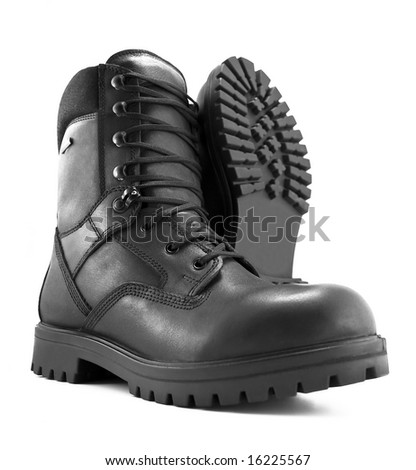 Photo of an adventure boot. - stock photo