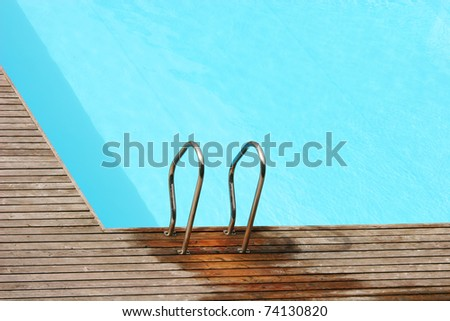 Photo of an empty pool - stock photo