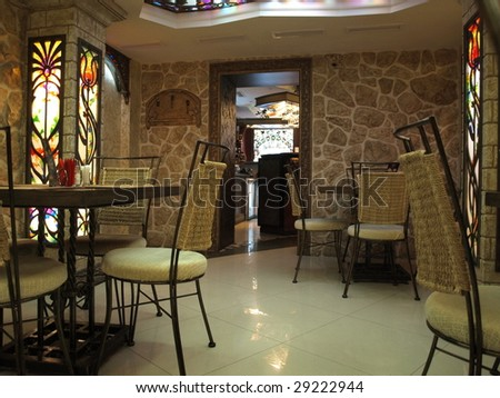 Photo of an interior of cafe - stock photo