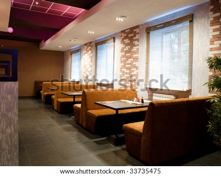 Photo of an interior of cafe