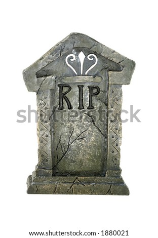 Photo of an Isolated Tombstone - stock photo