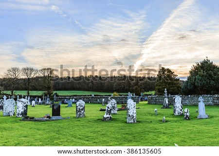 Photo of an old cemetery in Ireland - stock photo