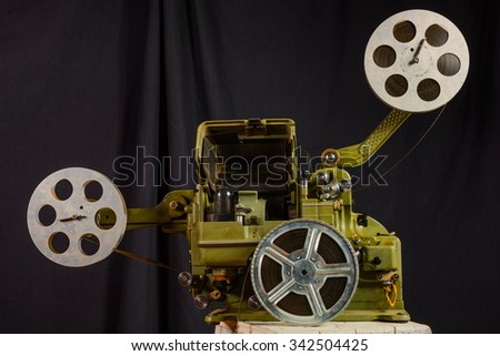 photo of an old war movie projector - stock photo