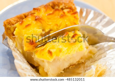 Photo of appetizing apple pie