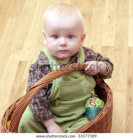 photo of baby inside the basket