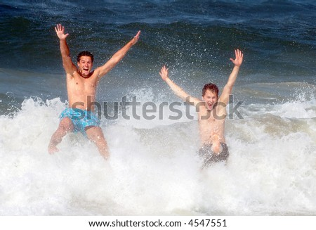 Photo of beach fun in USA.