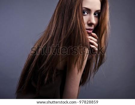 Photo of beautiful woman - stock photo