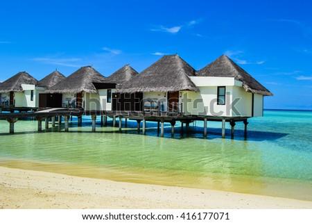 photo of beauty Maldives islands - stock photo