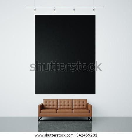 Led Tv On Tv Stand Black Stock Photo 381753865