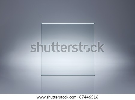 Photo of blank glass plate with copy space - stock photo