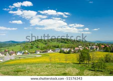 Photo of blue sky and spring nature