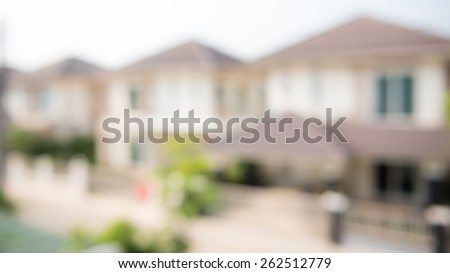 photo of blur housing estate - stock photo